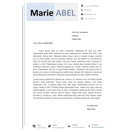 Lettre De Motivation Sérénité Bleu Pastel Modèle Réalisé Par Un Graphiste