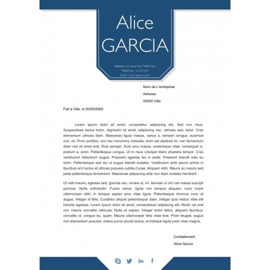Lettre de motivation Pancarte - Modèle réalisé par un graphiste