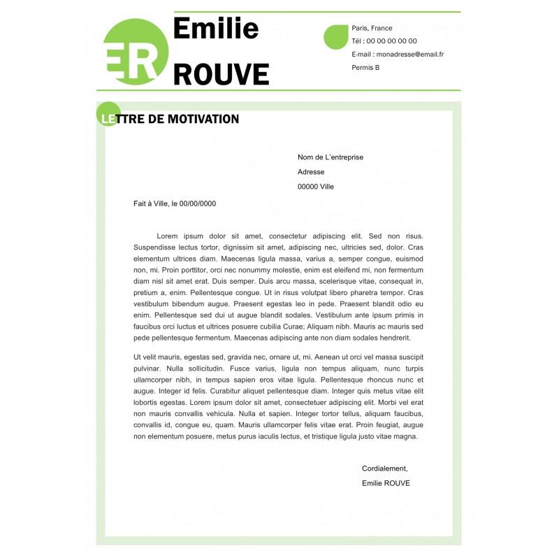 lettre de motivation ecolo moderne - vert