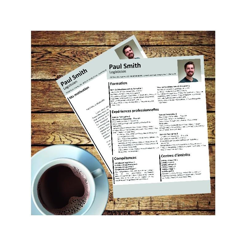 modèle CV design gratuit à télécharger et personnaliser