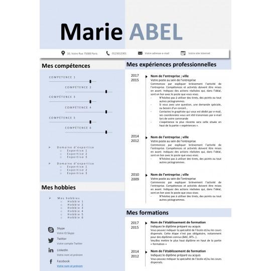 mod u00e8le cv design modifiables sur votre pc  mac avec word  powerpoint