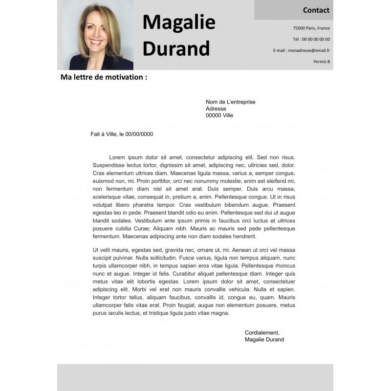 modèle lettre de motivation nuances de gris à télécharger et à personnaliser