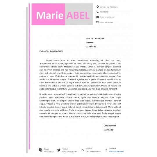 Lettre de motivation Multicolore - Modèle réalisé par un graphiste