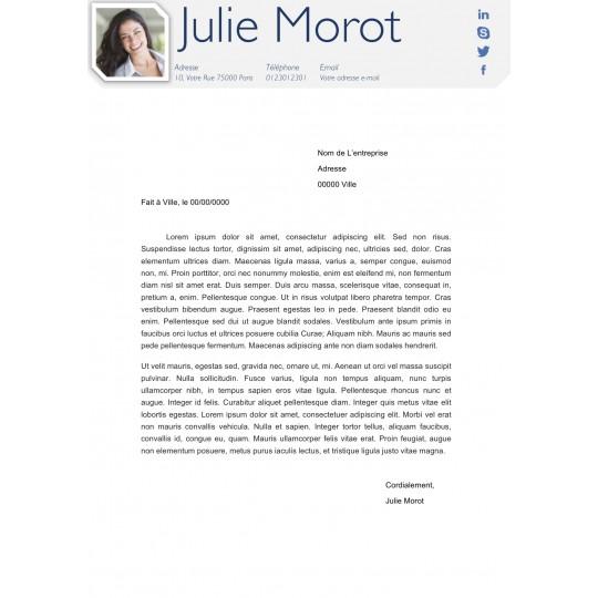 mod u00e8le cv avec lettre de motivation assortie  u00e0 t u00e9l u00e9charger
